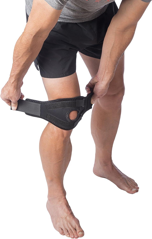 Pack de 2 un tama/ño Dos LW doble acci/ón de la rodilla de la r/ótula de la correa de Apoyo Wrap Protector
