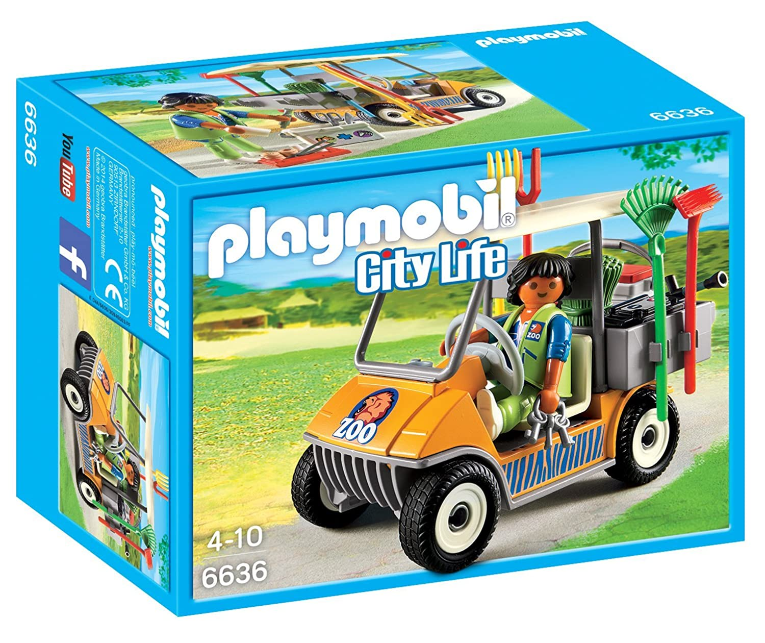 Playmobil 6636 City Life Zookeeper's Cart