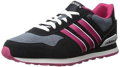 online store 1f33f 34ea1 adidas Womens 10K W-W BlackBold PinkWhite 8.5 ...