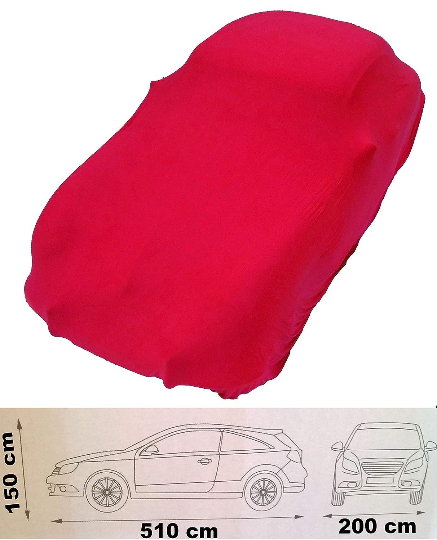 EXCOLO Auto Schutzh/ülle Schutzhaube Plane Indoor Hochwertig rot grau oder schwarz bis 5,80 m lang Rot bis 5,10 Meter