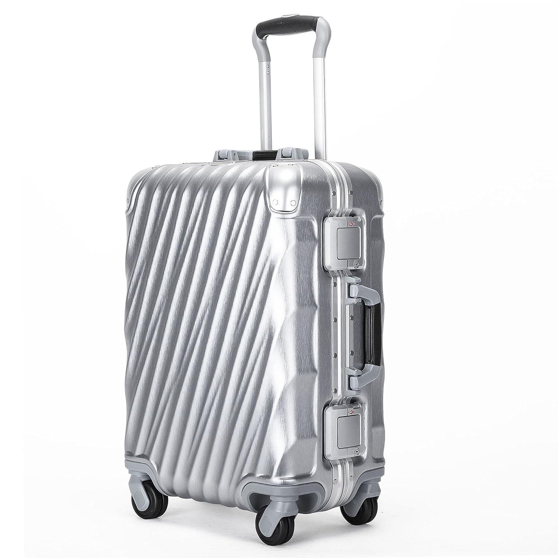 Kroeus(クロース) スーツケース 機内持込 軽量 人気 TSAロック 4輪ダブルキャスター 3段調節キャリーバー キャリーケース 大容量 旅行 出張 一年保証 B07BVRBVTX  シルバー S(1~3泊、35L)