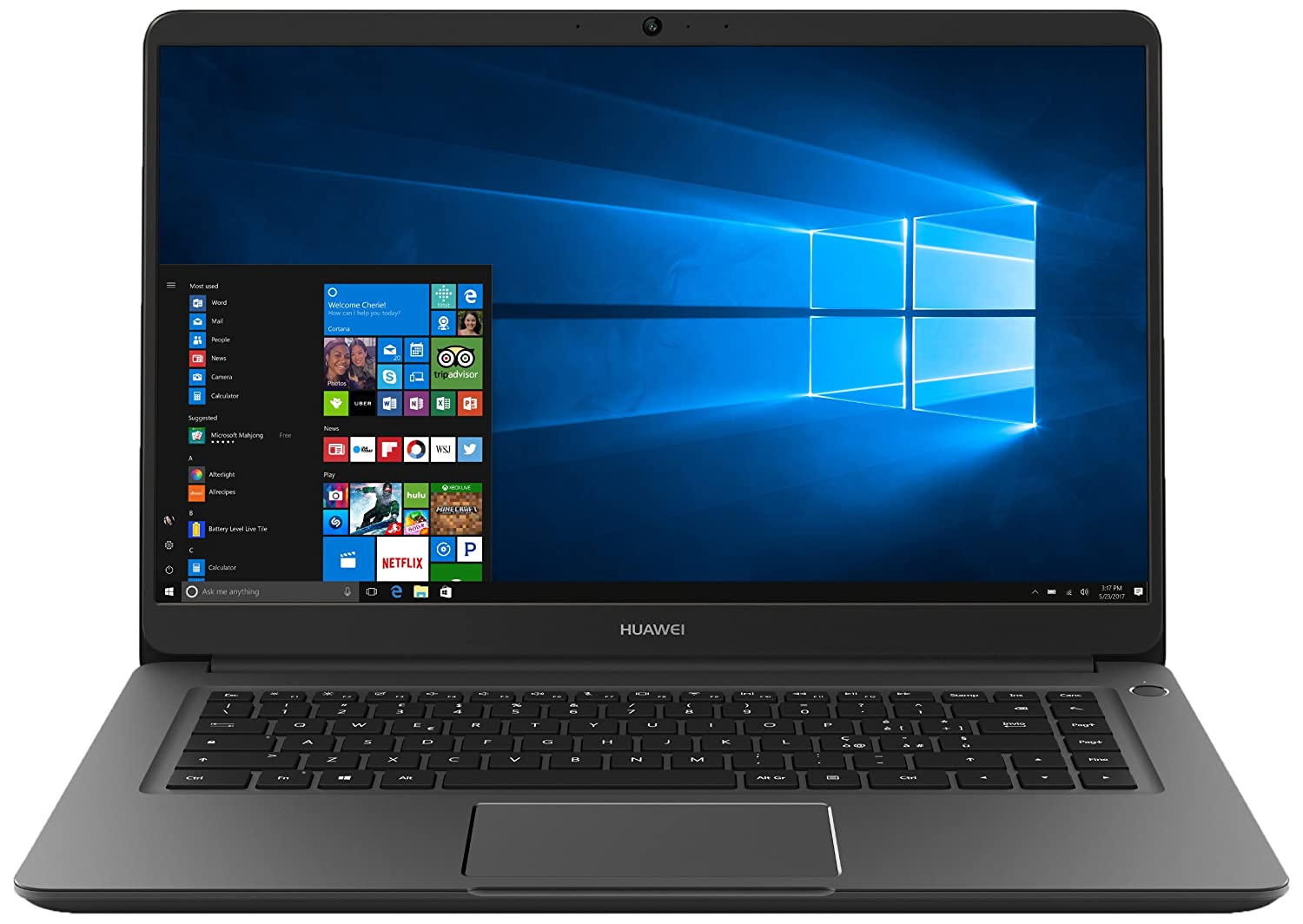 "Huawei Matebook D Notebook, Display 15.6"" FHD, I5-7200U, RAM 8GB DDR4, SDD 256 GB, Scheda Grafica Intel HD Graphics 620, Windows 10 Home [Layout Italiano]"