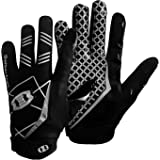 Seibertron Pro 3.0 Elite Ultra-Stick Sports Receiver Glove American Football Gloves Youth and Adult (Black, M)