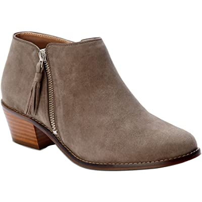 Vionic Upright Rory - Womens Heeled Boot Taupe - 6 Medium   Ankle & Bootie