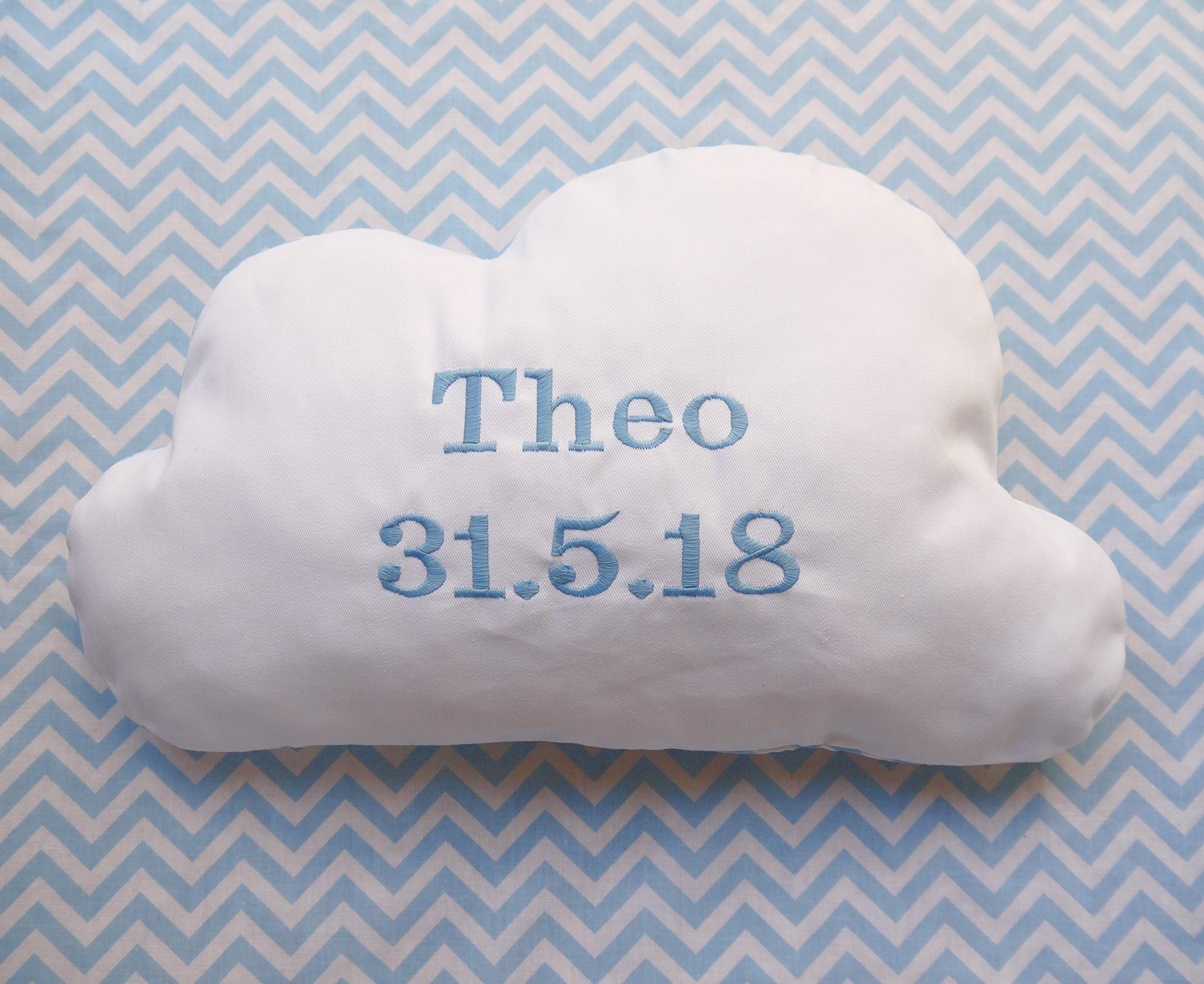 Cloud pillow personalised cushion Nursery decoration newborn gift