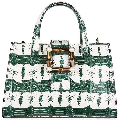 44ffba491955 Gucci women's leather handbag shopping bag purse nymphaea green:  Amazon.co.uk: Shoes & Bags