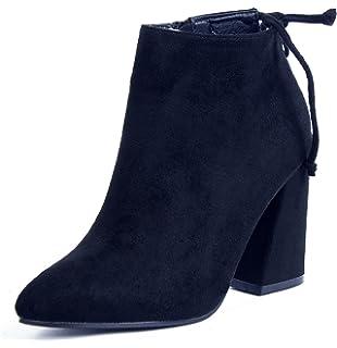 Shoes Tacco AgeeMi Donna Camoscio Faux Punta Stivaletti A Scarpe 7gq1xdwq