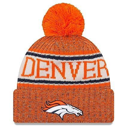 d9d2b5e2af6 New Era Knit Denver Broncos Biggest Fan Redux Sport Knit Winter Stocking Beanie  Pom Hat Cap