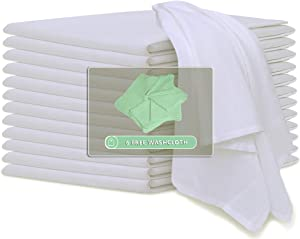 COTTON HOMES Flour Sack Kitchen Towels 12 Pack - 28x28 Inch- 6 Free Wash Cloths Included. Multipurpose Baking Cloth, Cheesecloth, Tea Towel, Dish Towels-100% Virgin Cotton Soft and Absorbent.