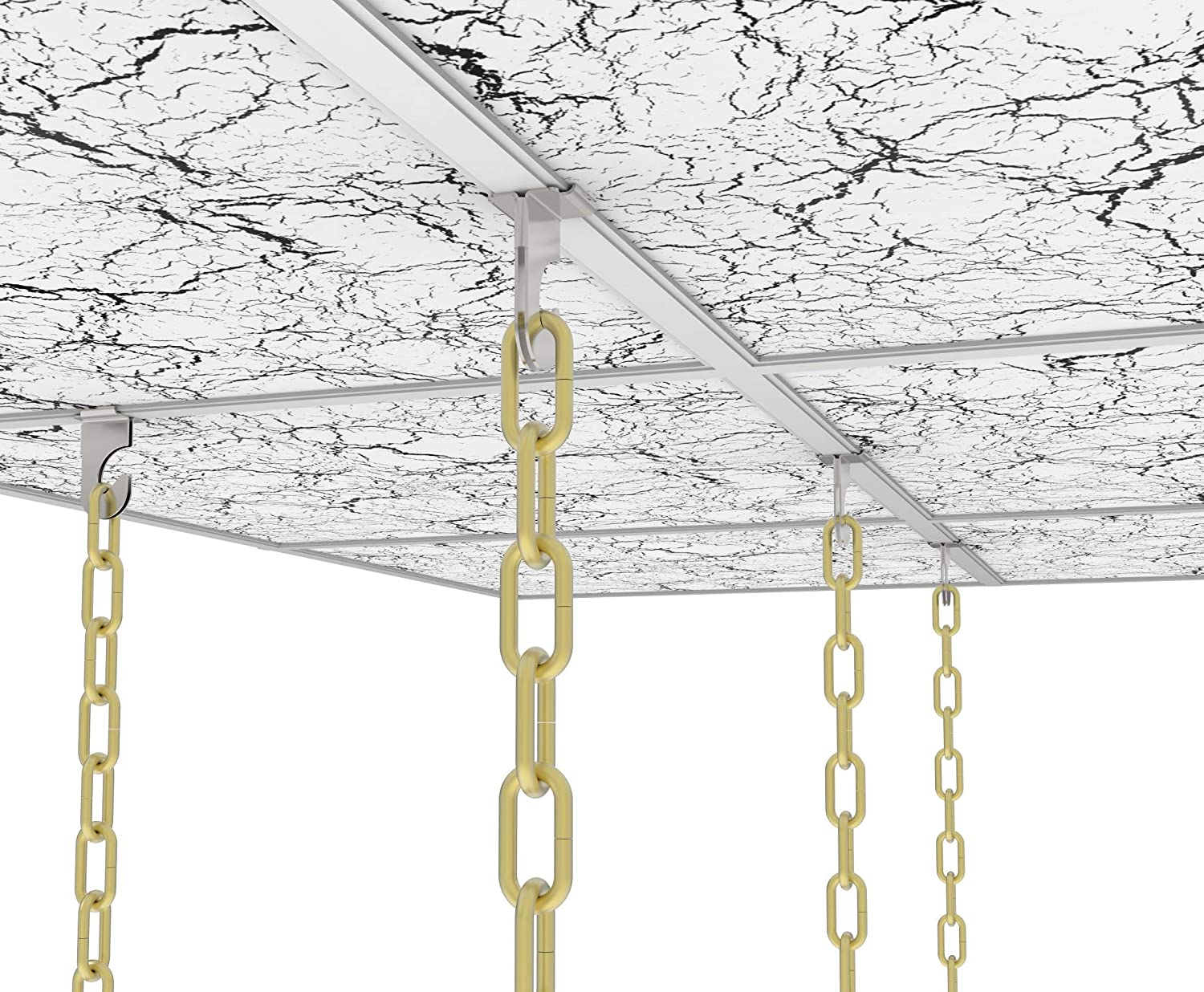 and Grid Ceiling Tile Ceiling Suspended Ceilings 10 Pack Great for Office , Classroom and Home Decorations T-Bar Clip fits Drop Ceilings LEOZDD Extra Heavy Duty Ceiling Hooks