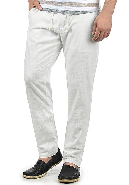 4dbc5b2f69 Blend Bonavo Pantaloni di Lino Pantaloni Panno da Uomo in Cotone 100%  Regular- Fit