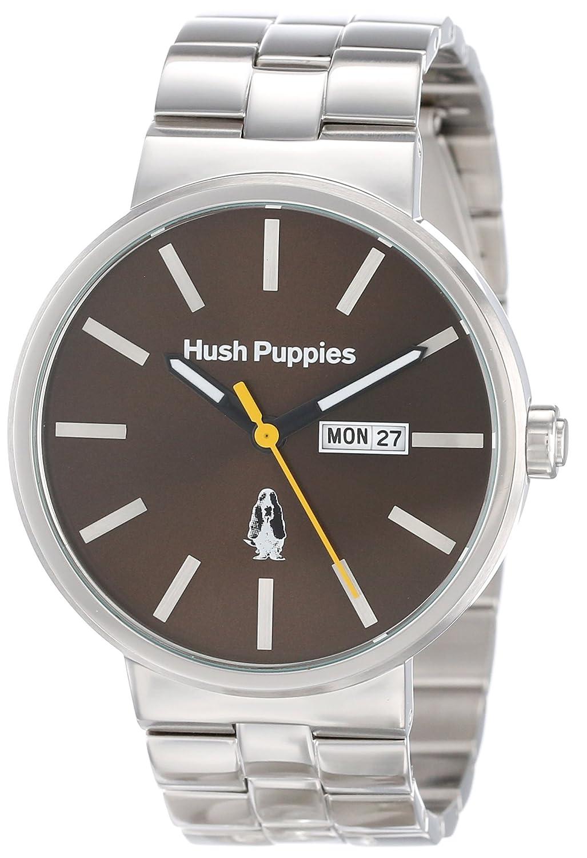 Hush Puppies Orbz Men'Automatik mit braunem Zifferblatt Analog-Anzeige und Silber-Edelstahl-Armband HP .1517 .3792 m