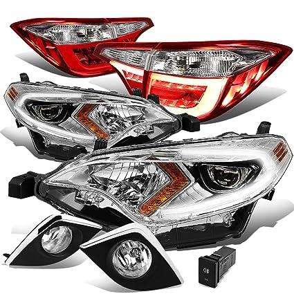 Auto Parts & Accessories 14-16 TOYOTA COROLLA BUMPER DRIVING LED FOG LIGHT LAMP CHROME W/BLACK BEZEL PAIR