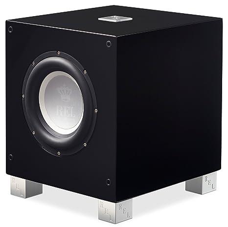 REL Acoustics T/7i Subwoofer, 8 inch Front-Firing Driver, Arrow Wireless  Port, High Gloss Black