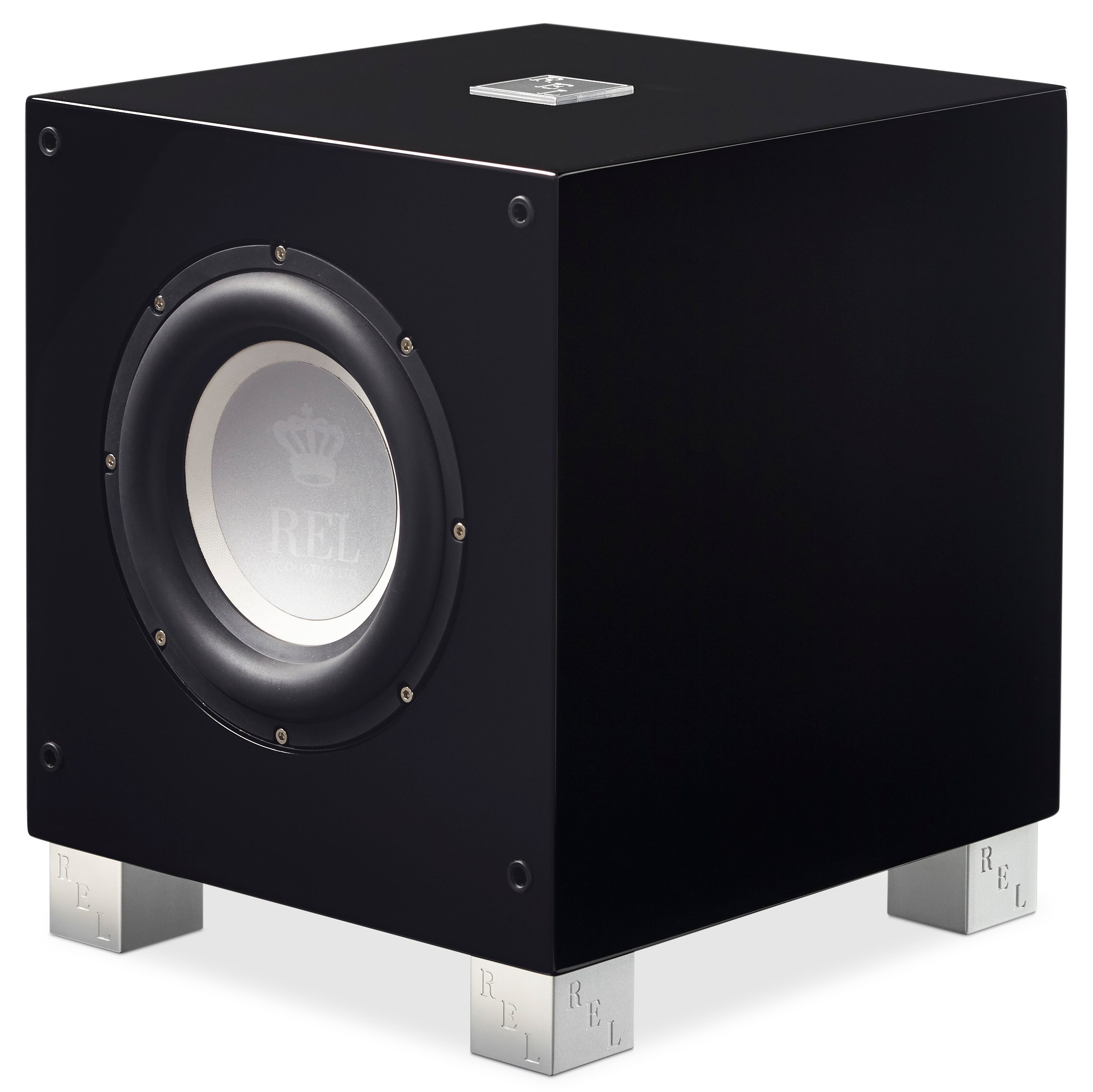 REL Acoustics T/7i Subwoofer, 8 inch Front-Firing Driver, Arrow wireless port, High Gloss Black by REL Acoustics