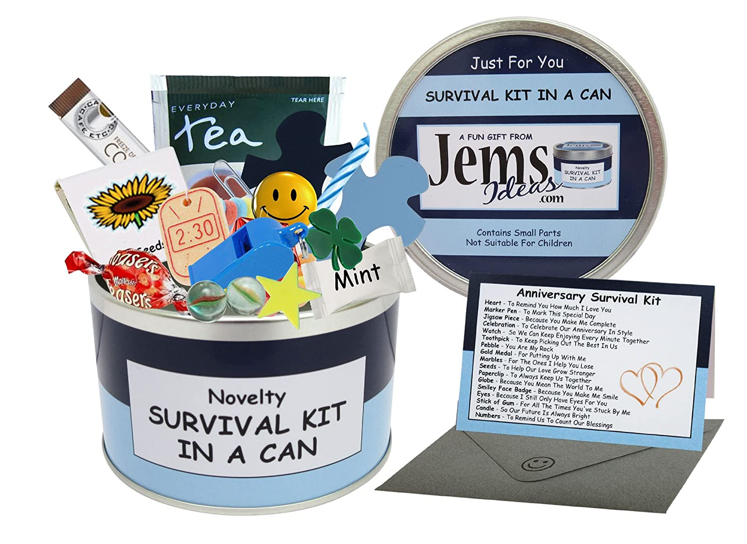 anniversary survival kit in a can humorous novelty gift male