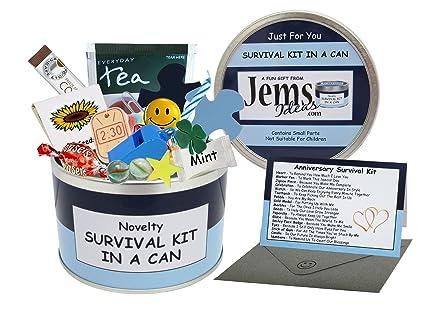 Survival Kit In A Can Caja para regalo de aniversario, divertida, para marido,