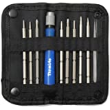 THEMISTO - built with passion 9in1 Screwdriver Tool Kit for Repairing Mobiles with Screwheads and Tweezer (Blue)