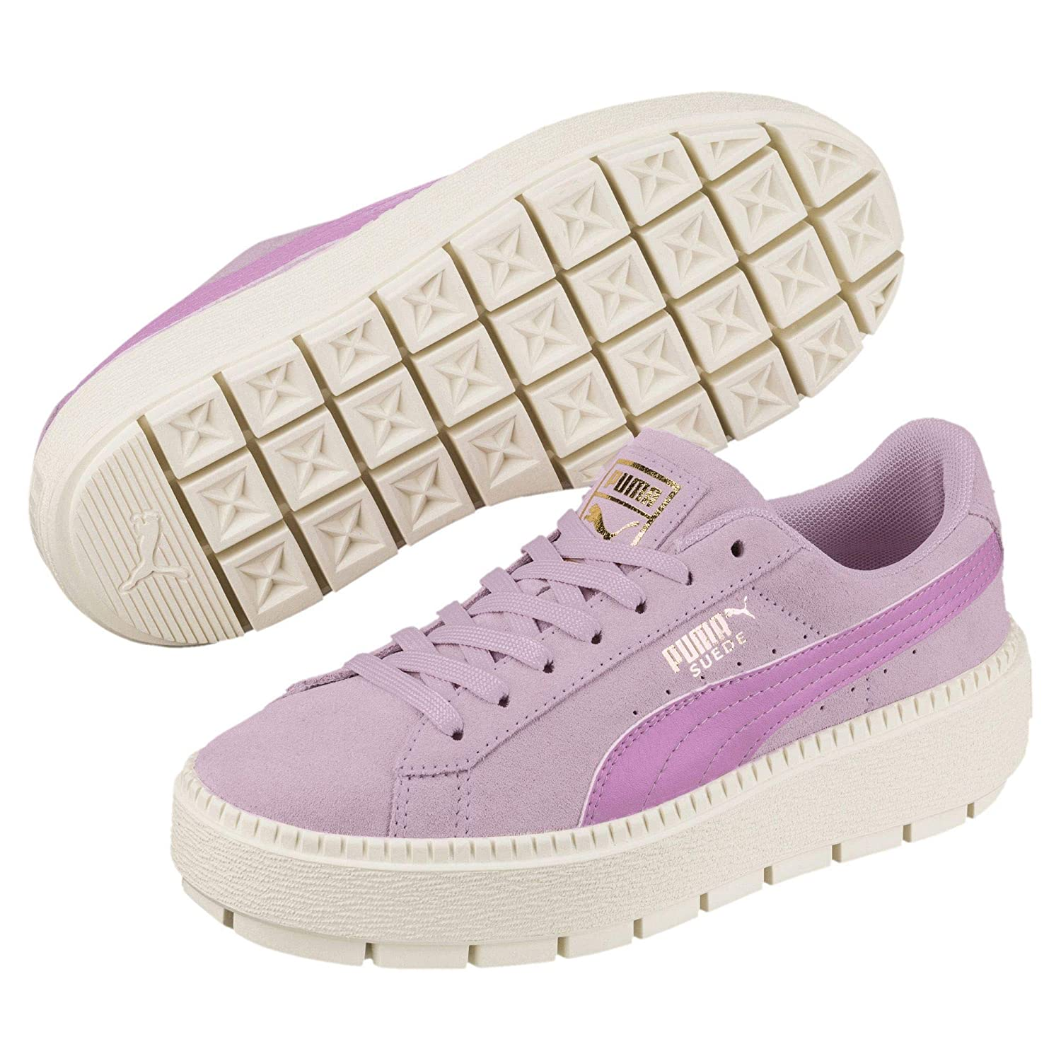 size 40 be5cd 98f34 Puma Suede Platform Trace Jr 36682602, Trainers Pink: Amazon ...