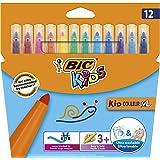 Bic 比克 XL 儿童毡尖笔 Pochette de 12 分类