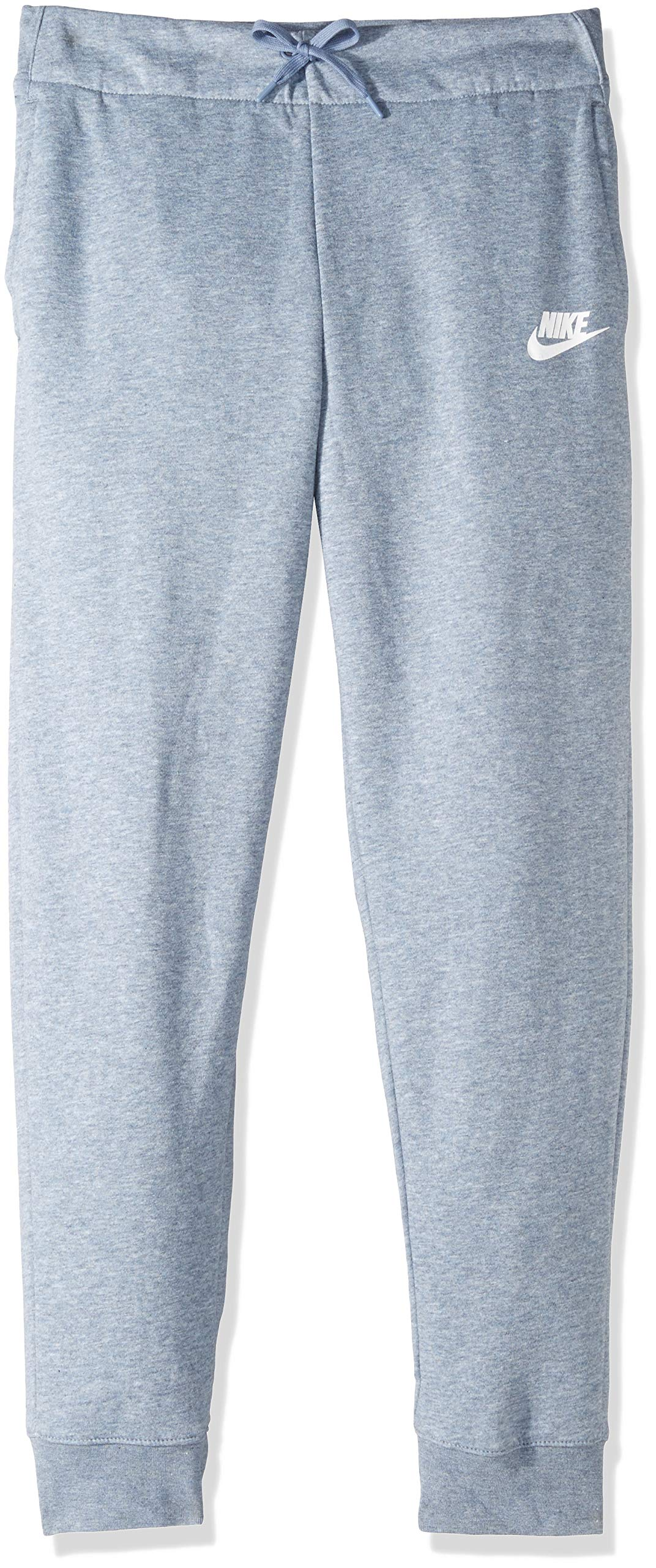NIKE Sportswear Girls' Pants, Ashen Slate/Heather/White, X-Small