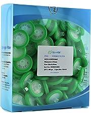 Simsii Syringe Filter, PES Non Sterile Micron Lab Filter, Diameter 25mm, Pore Size 0.45um, 100/pack
