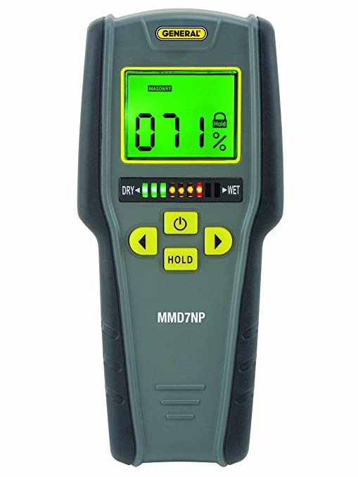 general tools mmd7np moisture meter pinless digital lcd with