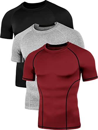 703ecf3fad9 Neleus Men s 3 Pack Cool Dry Compression Baselayer Short Sleeve T Shirt
