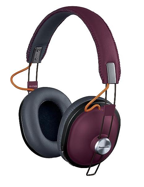 Panasonic RP-HTX80B-R - Auriculares estéreo inalámbricos (Rojo Burdeos)