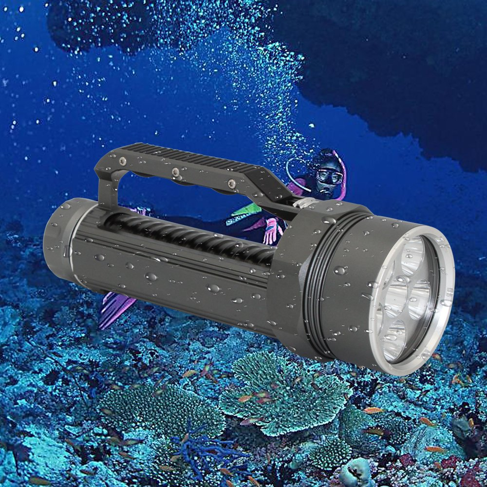 UV Black Light Diving Flashlight, KC Fire Professional Scuba Diving Light 1500 Lumens Handheld Diving Torch, Rechargeable 26650 Battery and Charger Included by KC Fire (Image #2)