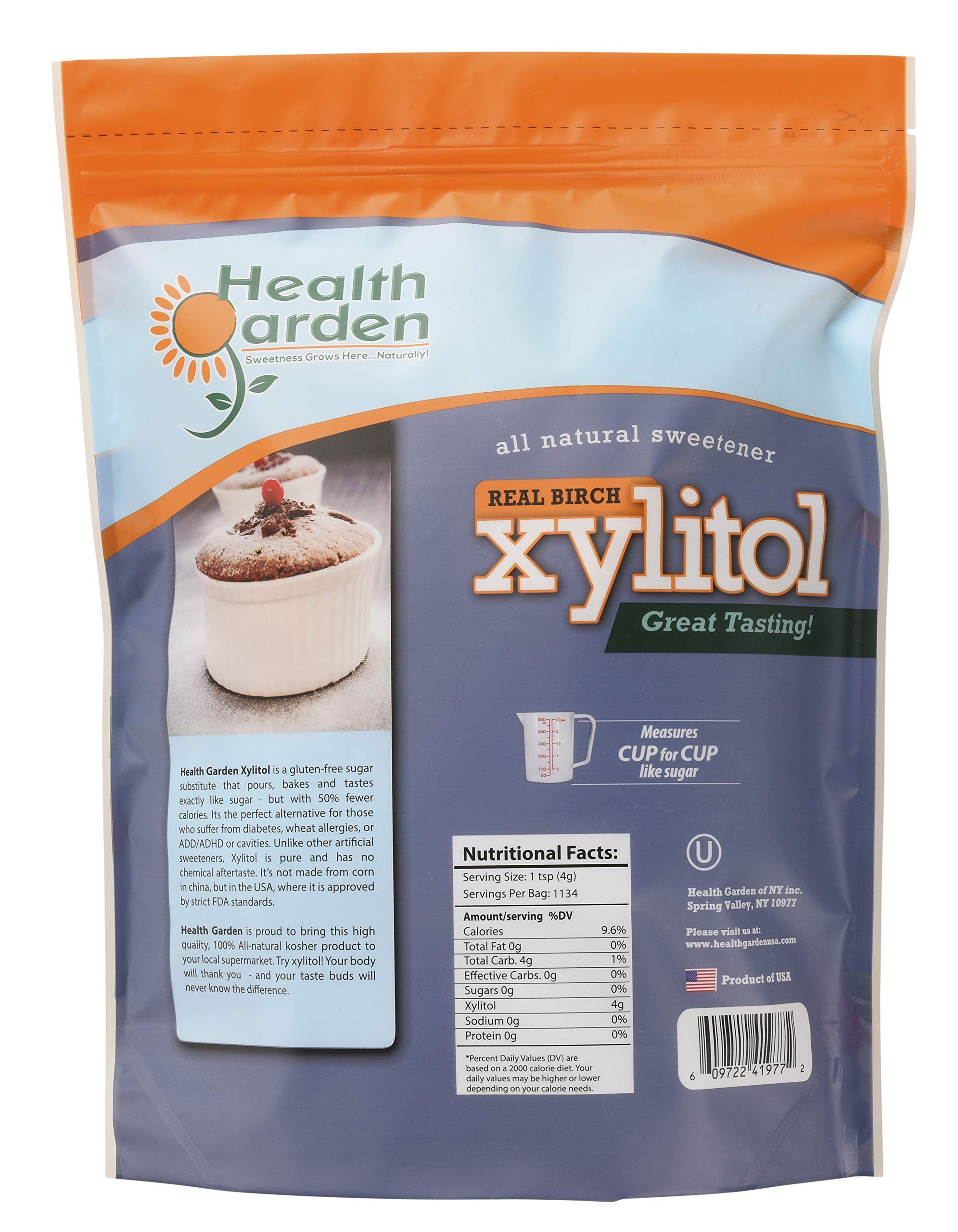 Health Garden Birch Xylitol Sugar Free Sweetener, All Natural, Non GMO (Not from Corn (10 LB) by HEALTH GARDEN (Image #4)