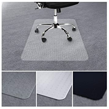 Non Slip Office Chair Desk Mat Floor Carpet Protector PVC Plastic Transparent UK