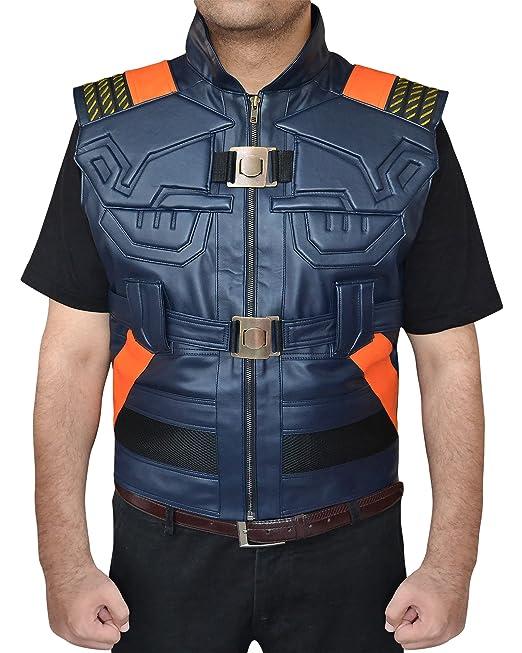 5895a1b07ac48c The American Fashion Michael B JORdan Black PanTher Erik Killmonger Vest   Amazon.ca  Clothing   Accessories