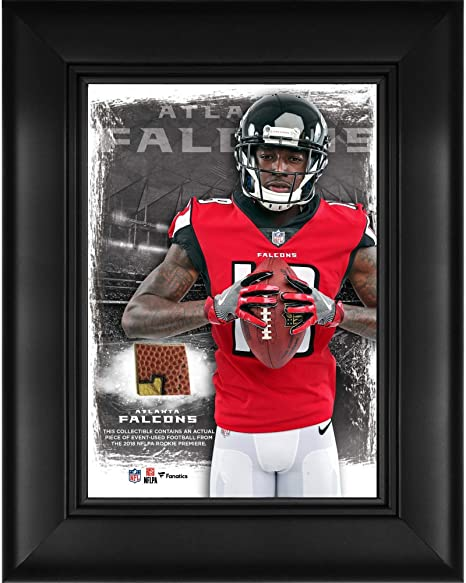 196bc4119 Calvin Ridley Atlanta Falcons Framed 5 quot  x 7 quot  Player Collage with  a Piece of