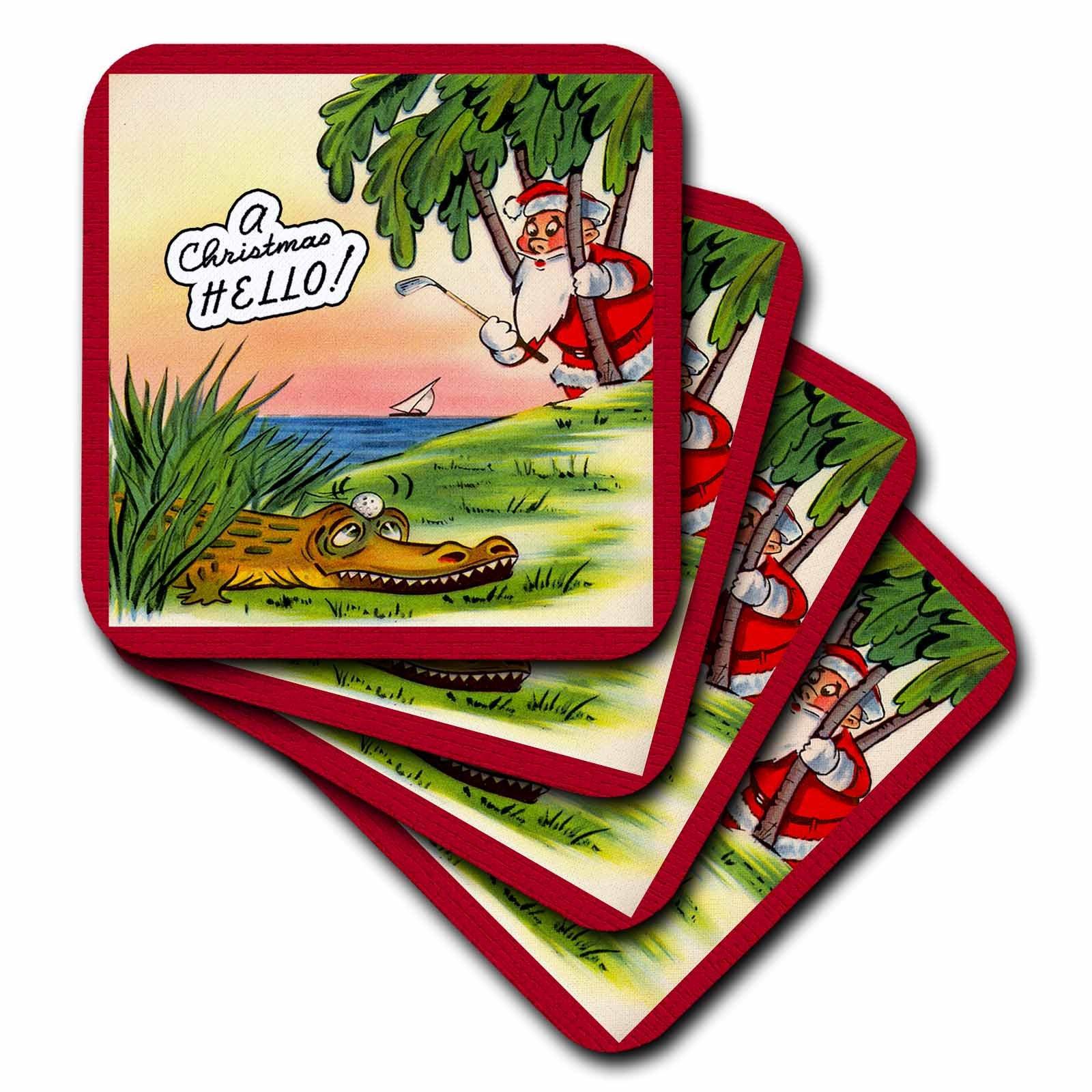 3dRose cst_172781_2 Golfing Santa Will Need a