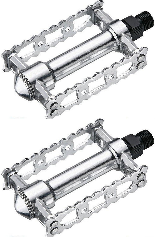 2X Pedales Retro Vintage de Aluminio Pulido con Eje de Acero y ...
