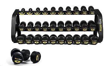 Comercial de uretano mancuernas Set 2,5 - 40 kg - powergym Fitness: Amazon.es: Deportes y aire libre