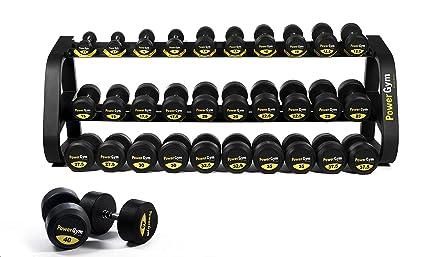 Comercial de uretano mancuernas Set 2,5 – 40 kg – powergym Fitness