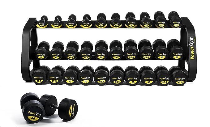 Comercial de uretano mancuernas Set 2,5 - 40 kg - powergym Fitness ...