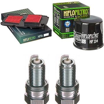 Filtro de aire Filtro de aceite Bujía Honda XL 700 VA Transalp ABS 2008 - 2013 Kit de mantenimiento servicekit: Amazon.es: Coche y moto