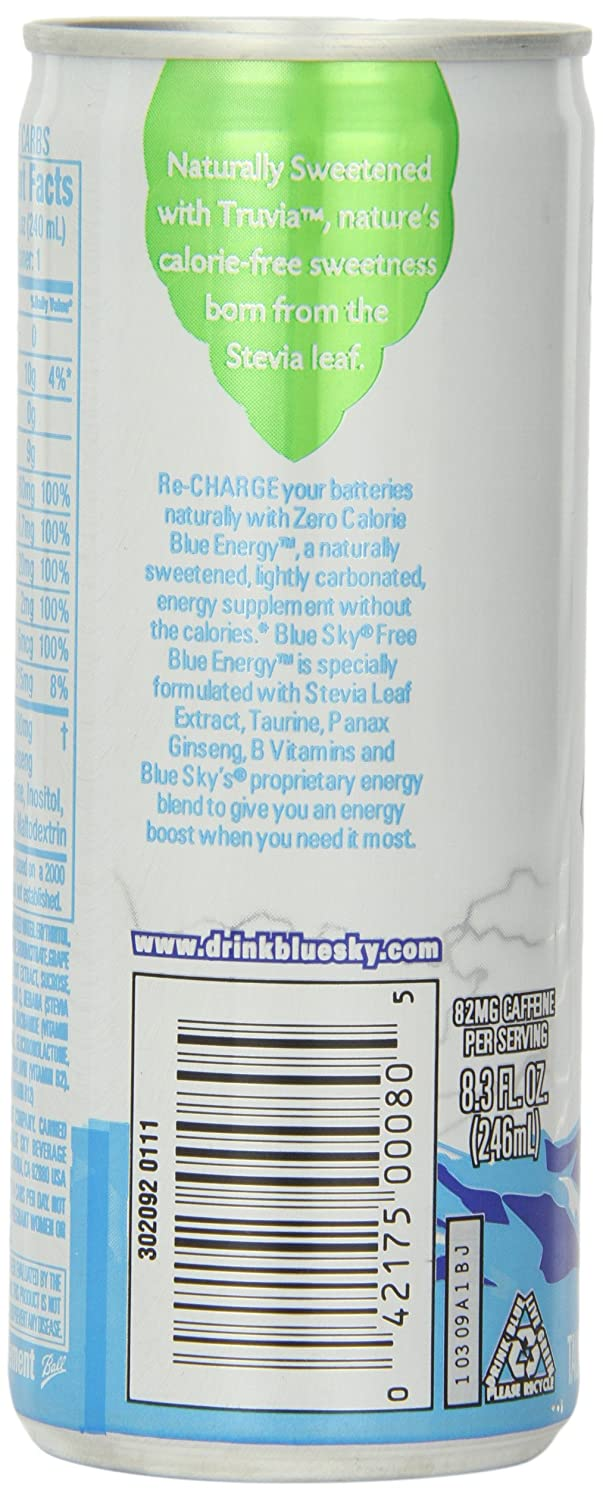 Amazon.com : Blue Sky Free Blue Energy Drink, 8.3 Ounce Cans (Pack ...