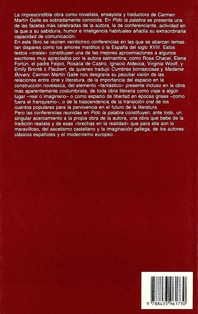 Pido la palabra: 282 (Argumentos): Amazon.es: Martín Gaite, Carmen: Libros