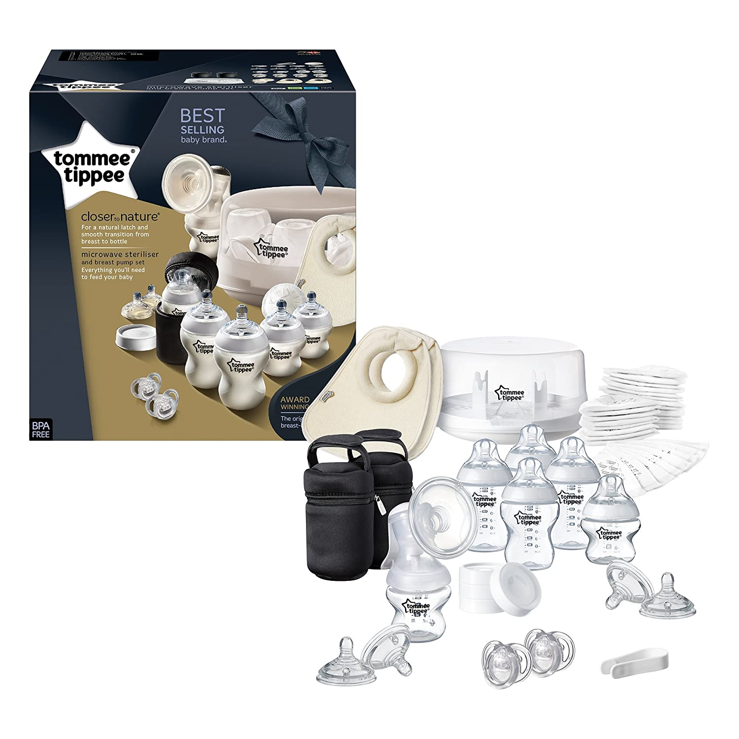 03f6b2f68 Tommee Tippee Closer to Nature Microwave Steriliser and Breast Pump Set:  Amazon.co.uk: Baby