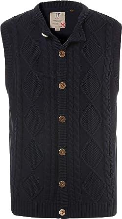 JP 1880 Mens Big /& Tall Button Front Bavarian Knit Vest 705588
