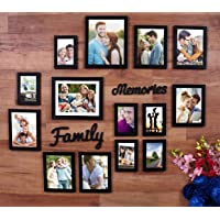 Art Street Beautiful Family Memories Set of 14 Individual Wall Photo Frame (6-6x8, 6-4x6, 2-8x10) with MDF Plaque (Family and Memories)