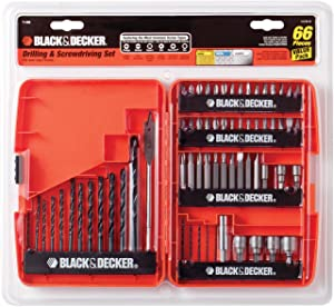 BLACK+DECKER Drill Bit Set / Screwdriver Set, 66-Piece (71966)