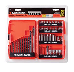 BLACK+DECKER 71-966 Drilling and Screwdriving Set, 66-Piece Bit Set