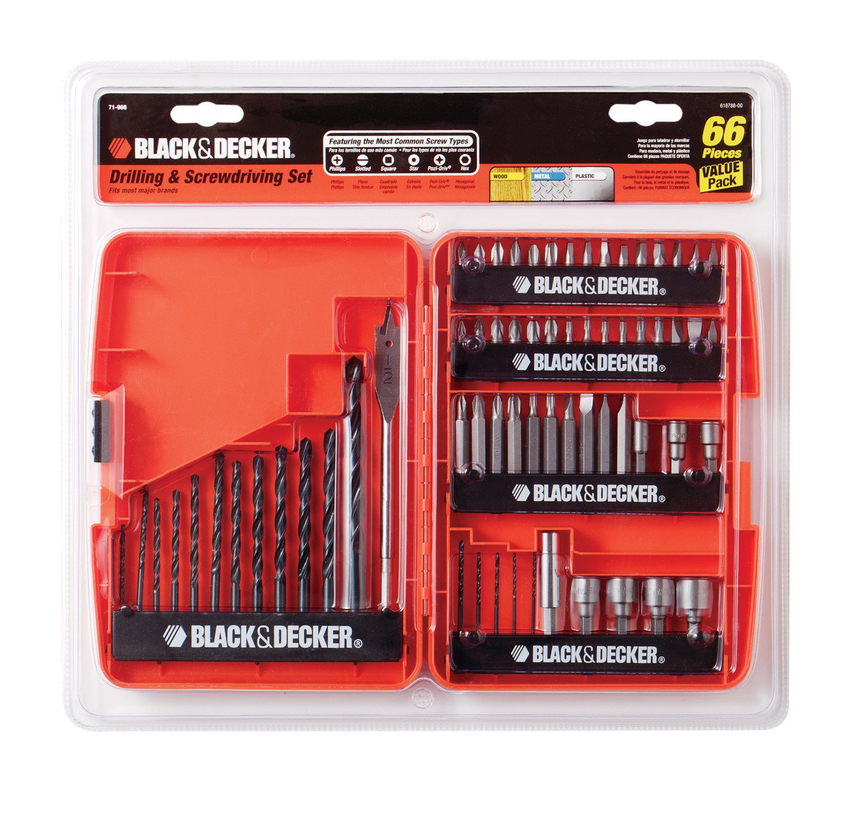 BLACK+DECKER 71-966 Drilling and Screwdriving Set, 66-Piece Bit Set