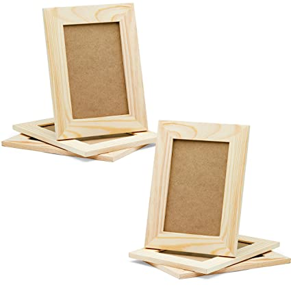 Amazoncom Diy Picture Frames 4x6 Craft Frames Set Unfinished