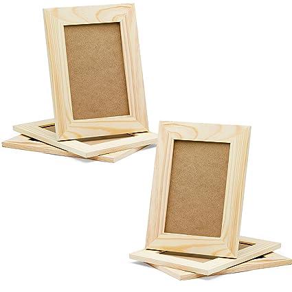 Amazoncom Diy Picture Frames 4x6 Craft Frames Set Unfinished